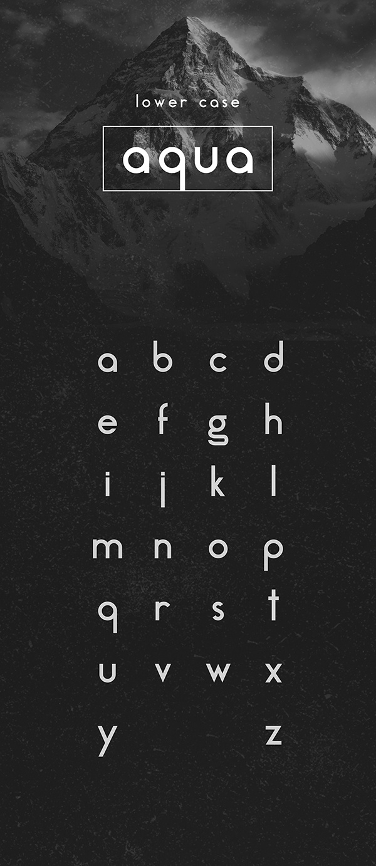 aqua tipografía
