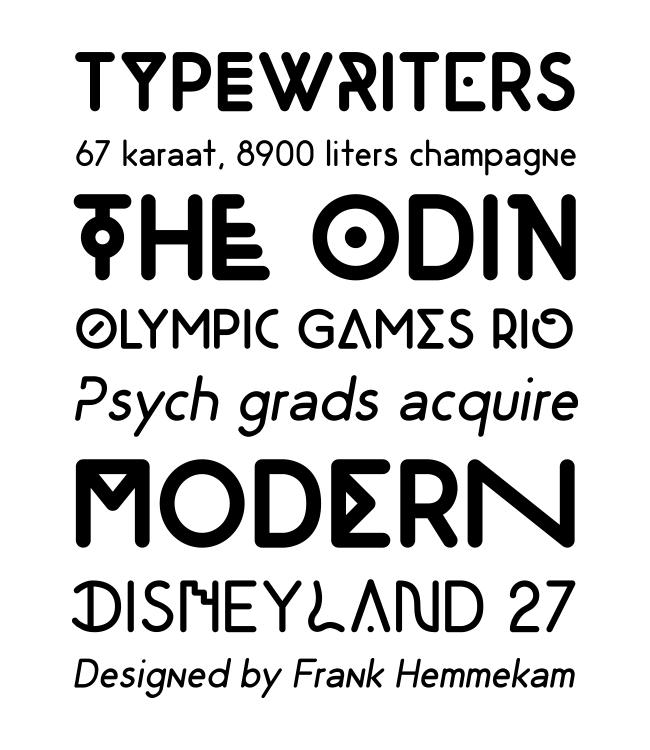 odin tipografía