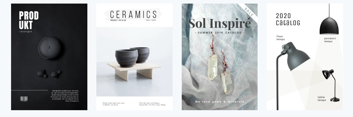 plantillas catálogos online