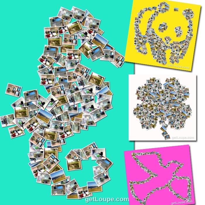 Crea mosaicos con tus propias fotos de forma sencilla y - Como hacer un collage de fotos a mano ...