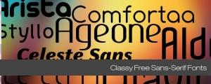 20 tipografías sans-serif totalmente gratuitas