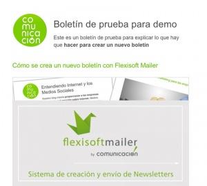 Así se crea un nuevo boletín en Flexisoft Mailer