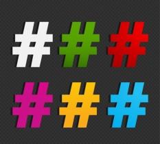 el origen del hashtag