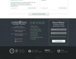 Latorre y Vega web footer