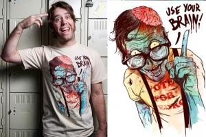 Mira que camisetas tan creativas! Un montón de modelos diferentes