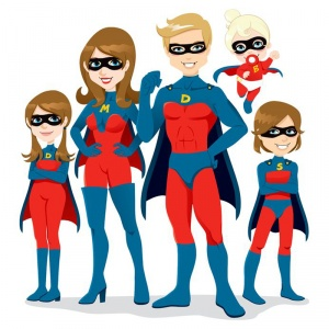 Todos somos Super-Héroes. Superman, Superwoman y hasta Superbabys!