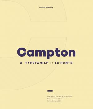 campton tipografías
