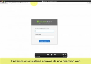 Un vídeo de cómo se crea y envía un boletín con Flexisoft Mailer